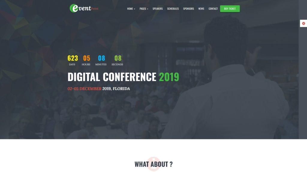 красивые шаблоны WordPress конференции и событий с онлайн-календарем 09