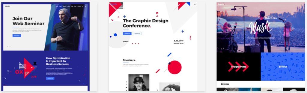 красивые шаблоны WordPress конференции и событий с онлайн-календарем 10
