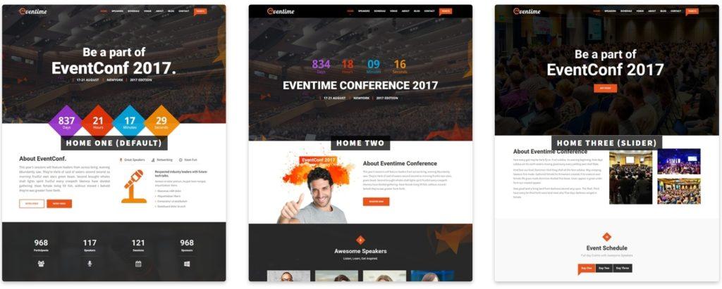 красивые шаблоны WordPress конференции и событий с онлайн-календарем 11