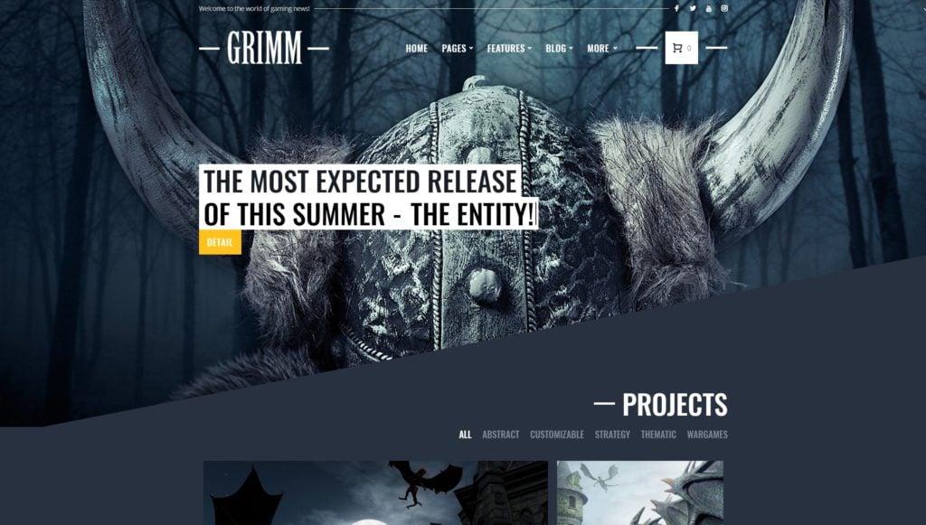 красивые WordPress шаблоны для геймеров и игровых сайтов 01