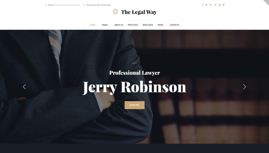 Лучшие WordPress шаблоны для адвоката и юриста с записью 02