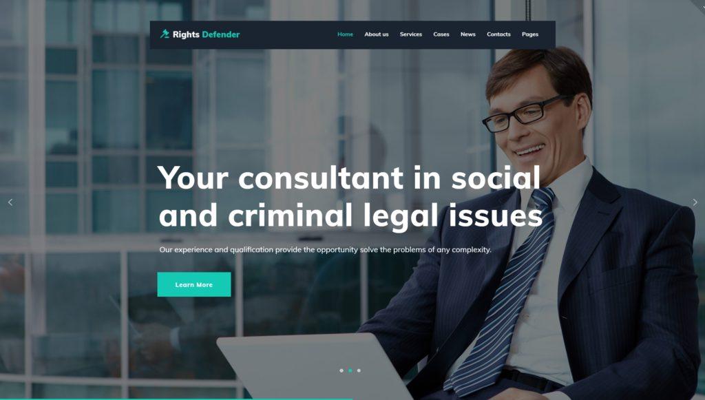 Лучшие WordPress шаблоны для адвоката и юриста с записью 03