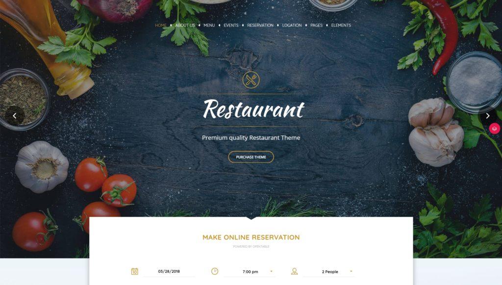 лучшие WordPress шаблоны для ресторана, кафе и бара с меню и доставкой 04