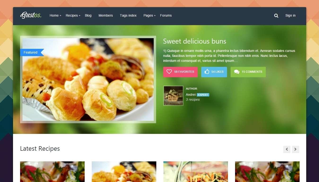 шаблоны WordPress для форума и сообщества гурманов
