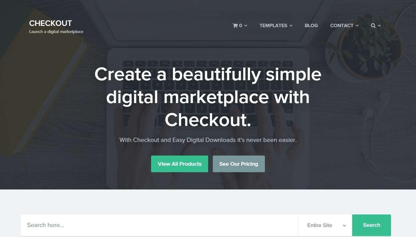WordPress шаблон для продажи любых цифровых продуктов