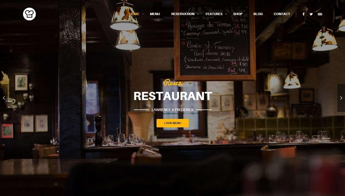 Wordpress шаблоны для ресторана и бистро