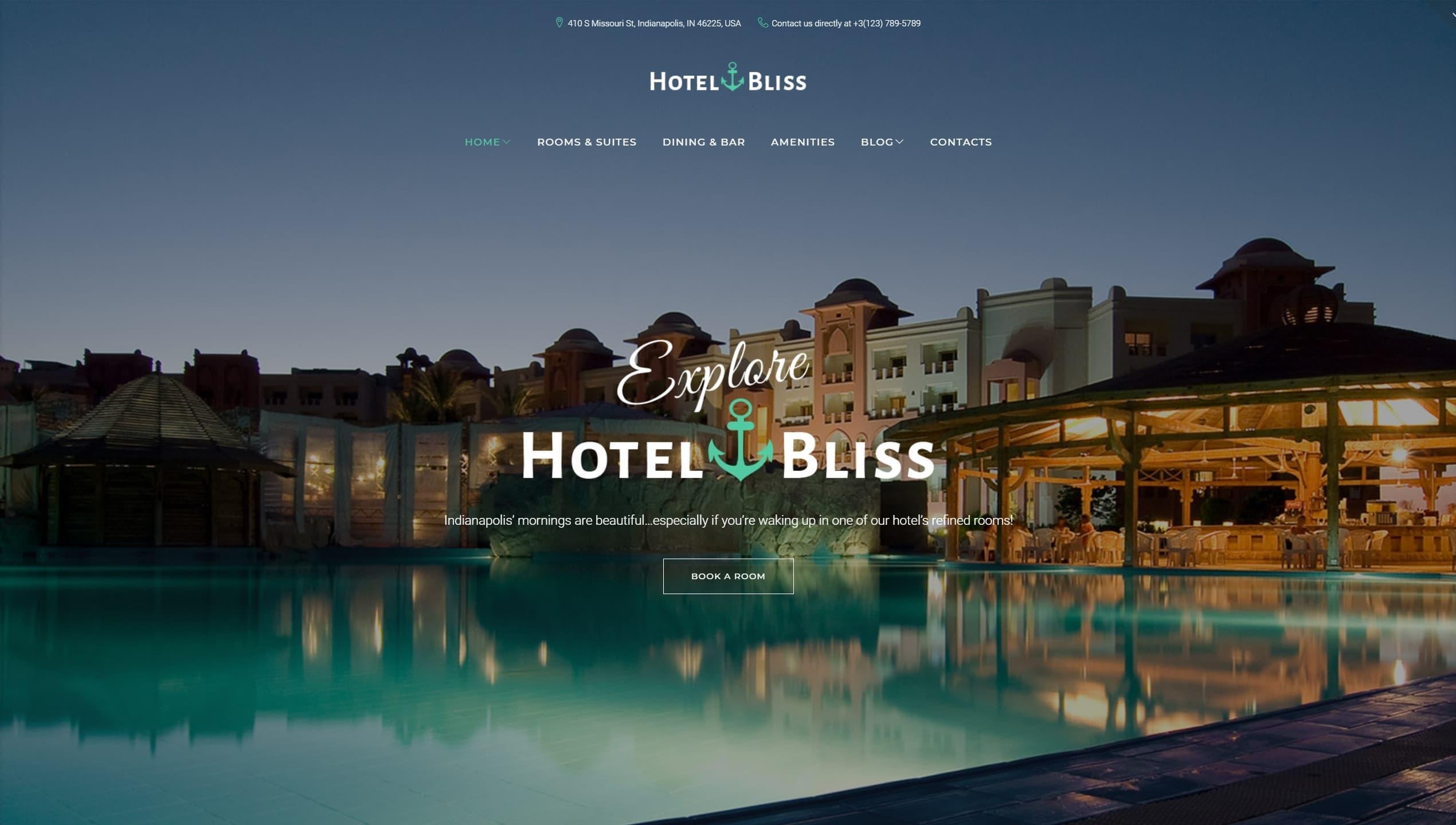 WordPress шаблоны для гостиницы и отеля c онлайн-бронированием
