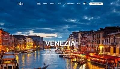 Роскошный туристический шаблон сайта на WordPress 2016