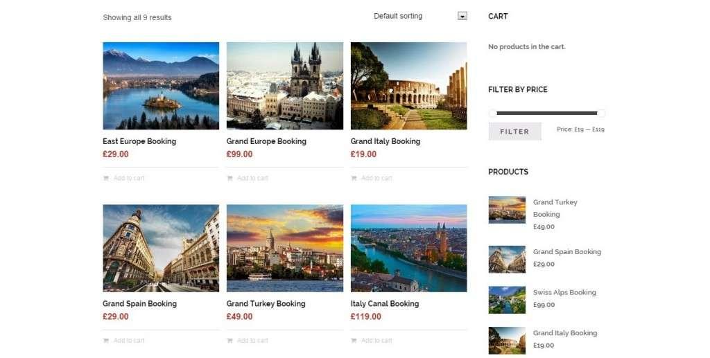 Туристический шаблон сайта 2016
