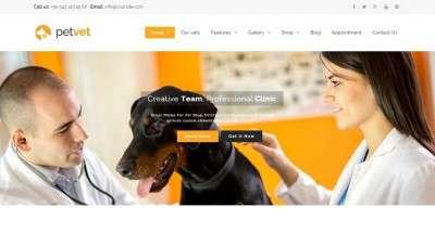 Готовые шаблоны сайта ветеринарной клиники