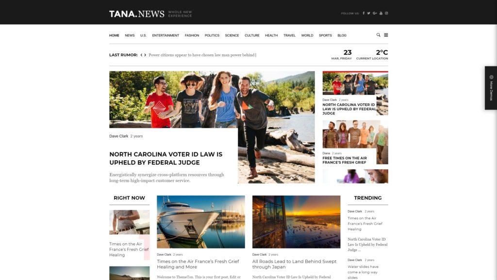 как и где купить лучший адаптивный новостной шаблон WordPress 17