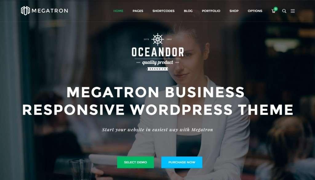 лучший качественный корпоративный шаблон сайта на WordPress 2016