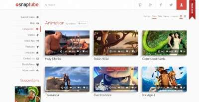 Лучший шаблон видео сайта на WordPress 2016