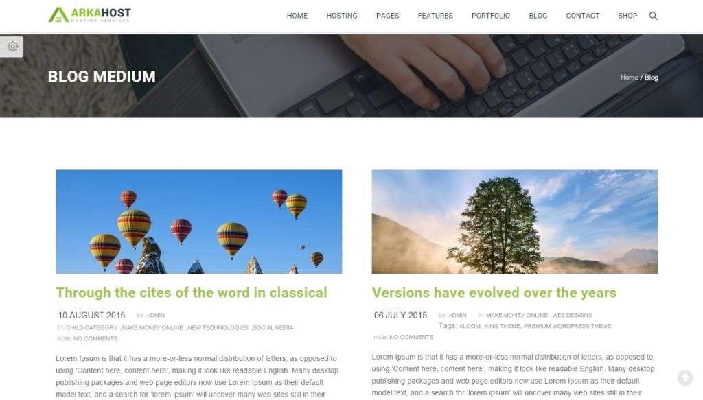 лучший шаблон хостинга WordPress 2016