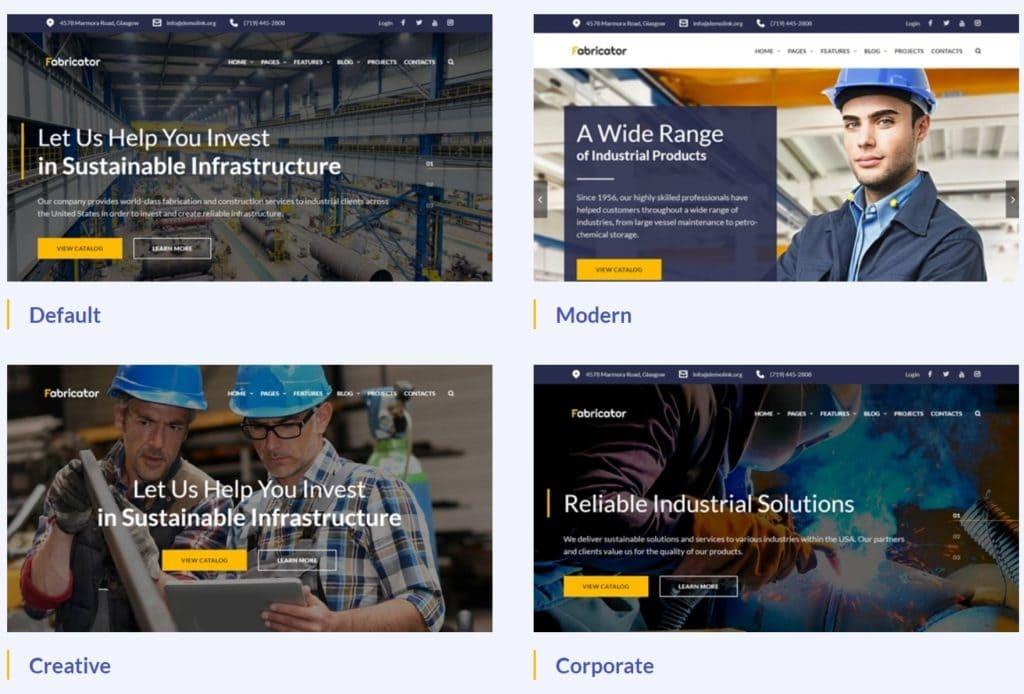 профессиональные шаблоны сайта строительной компании на Вордпресс с красивым дизайном 03