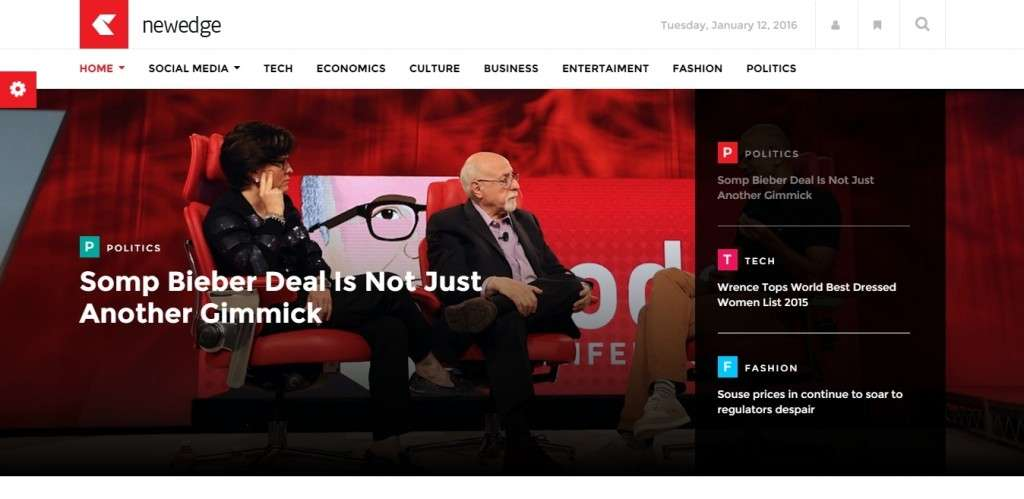 Самый лучший новостной шаблон WordPress 2016