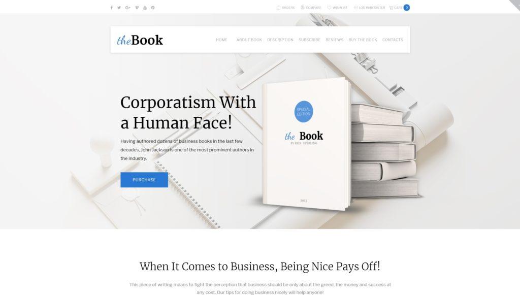 Шаблон книжного магазина и сайта библиотеки 01