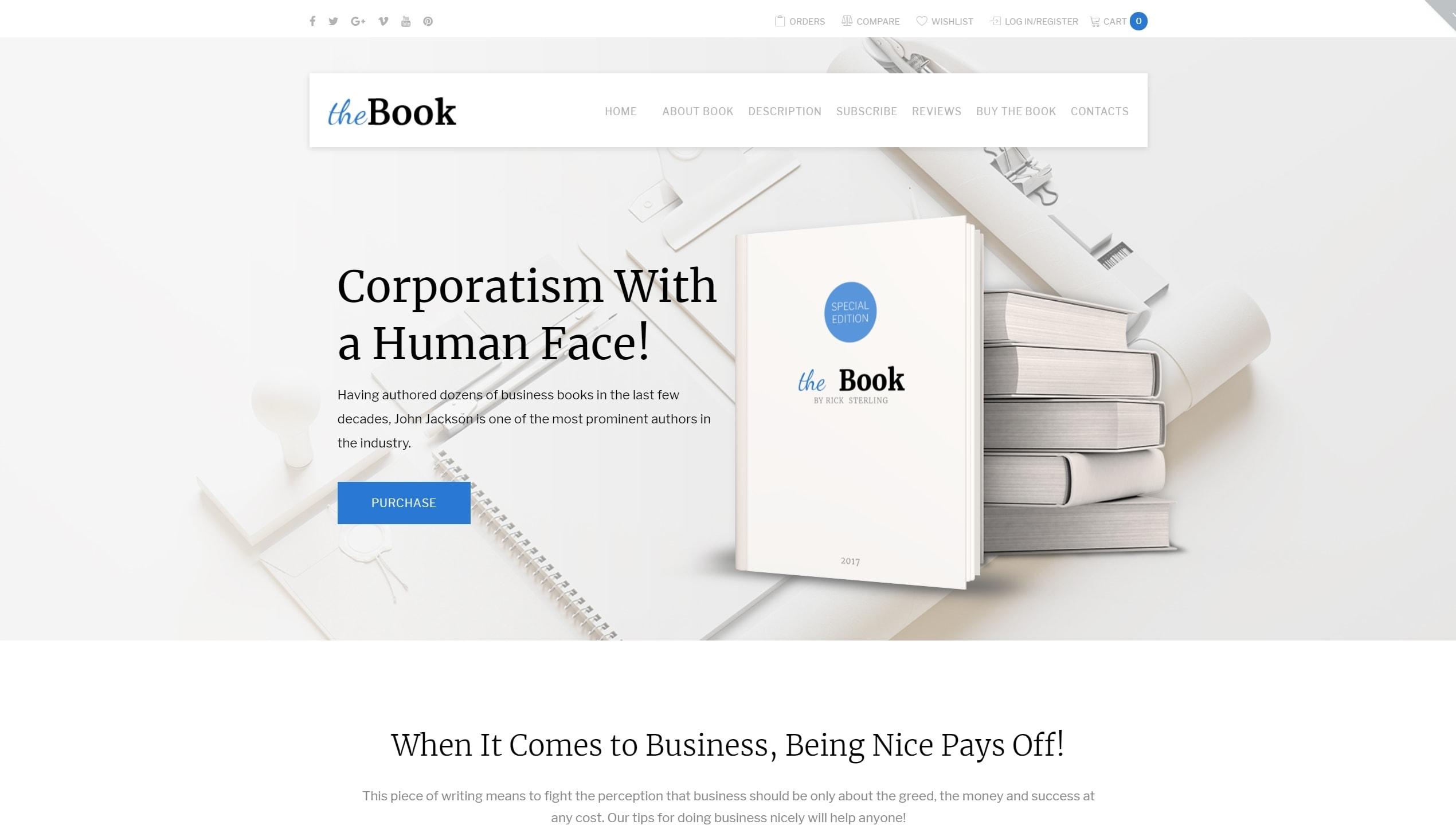 Шаблон книжного магазина и сайта библиотеки
