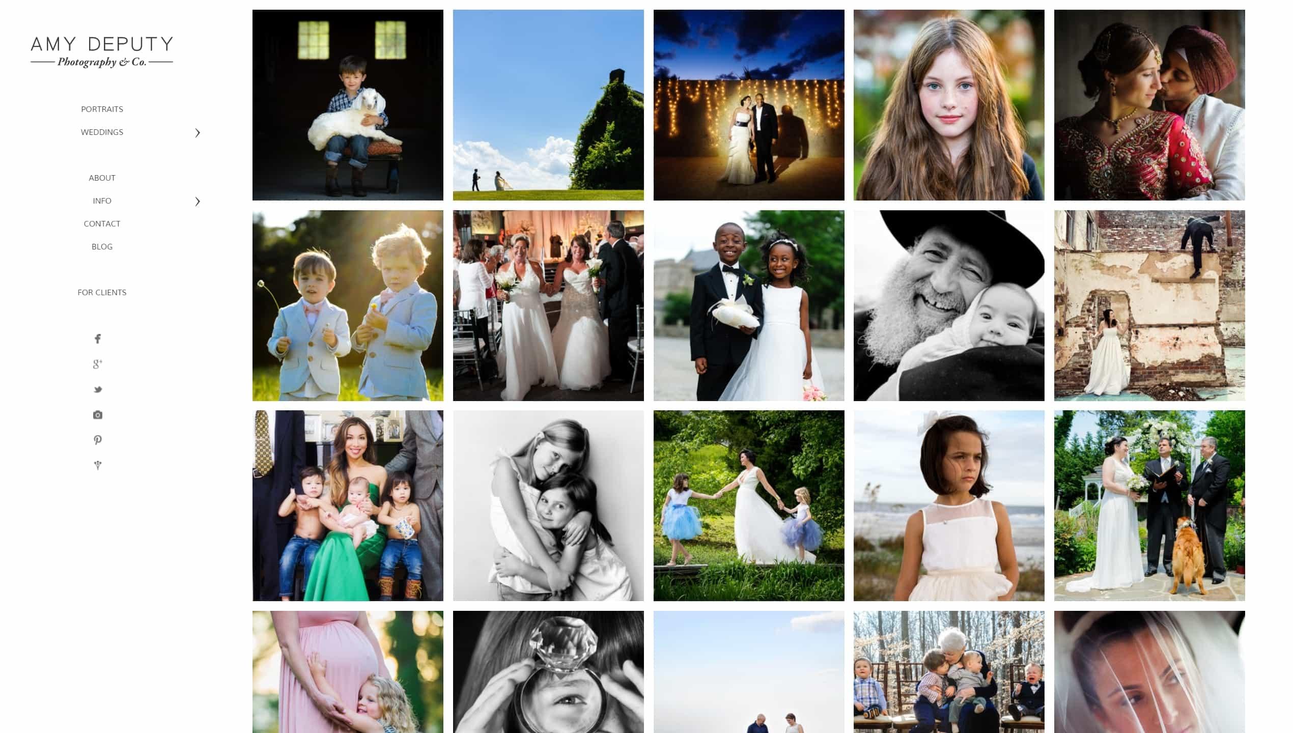 Шаблон сайта фотографа с красивой галереей, портфолио и блогом для начинающих и профессионалов