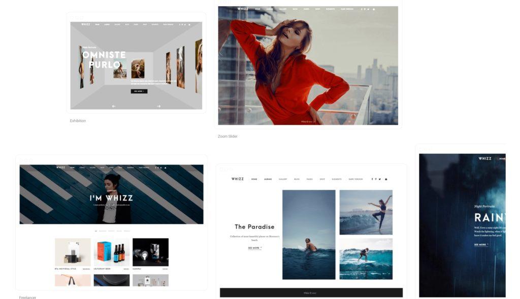шаблон сайта фотографа с красивой галереей, портфолио и блогом для начинающих и профессионалов 10