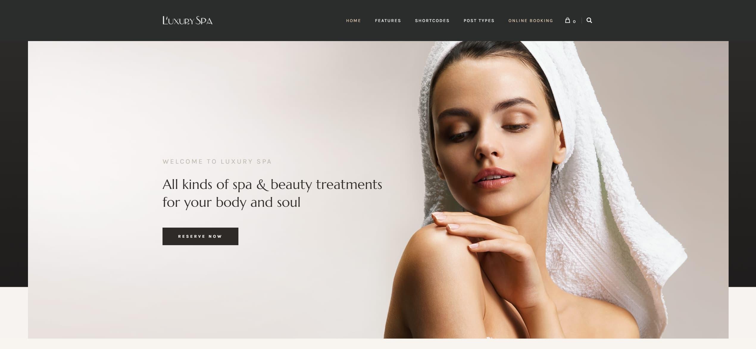 Шаблон салона красоты WordPress для красивого адаптивного сайта
