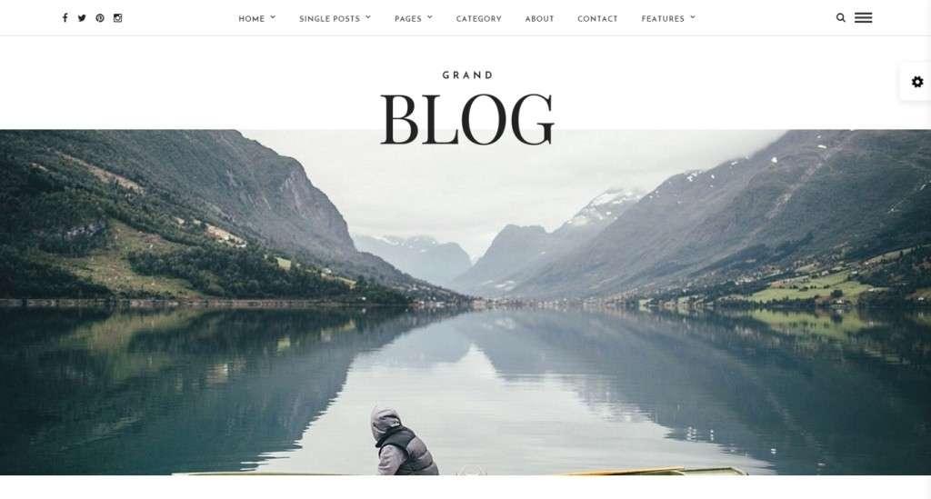 Cамый лучший шаблон блога 2016