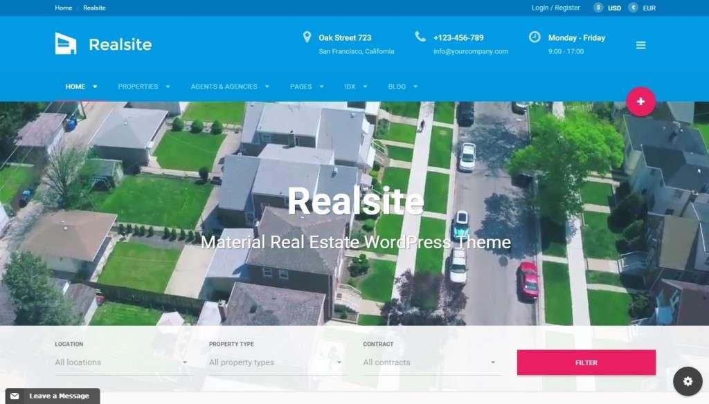 великолепный лучший шаблон сайта недвижимость 2016