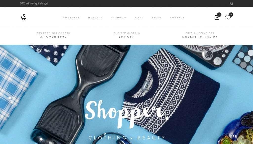 грандиозный шаблон интернет магазина одежды 2016
