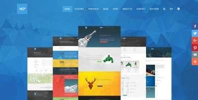 Лучший шаблон сайта веб студии на WordPress с презентабельным портфолио