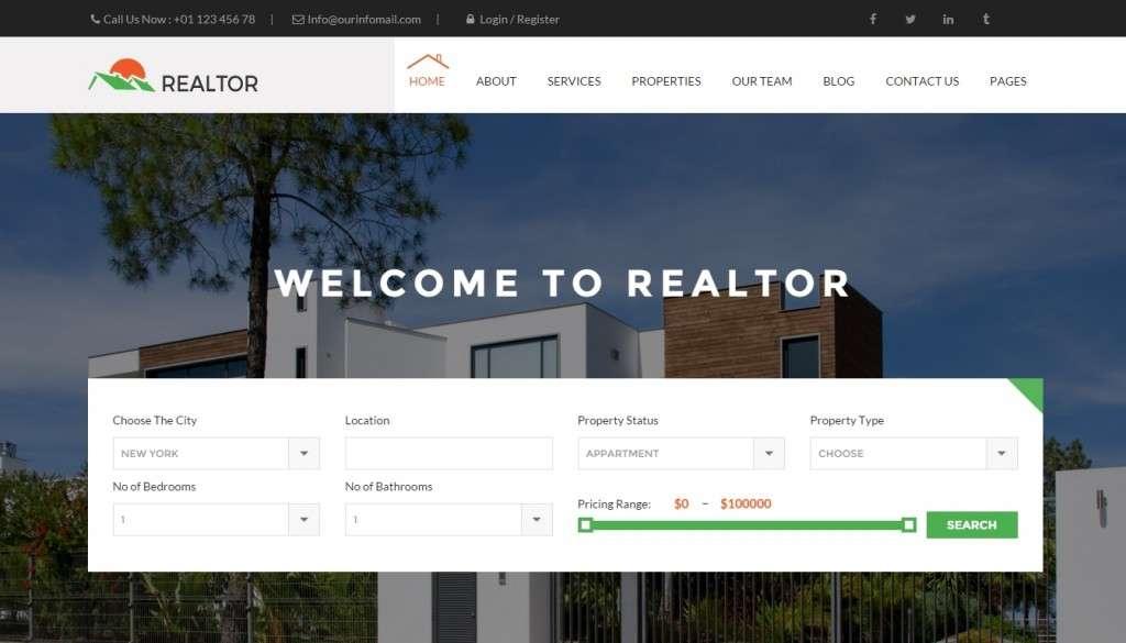 отличный лучший шаблон сайта недвижимость 2016