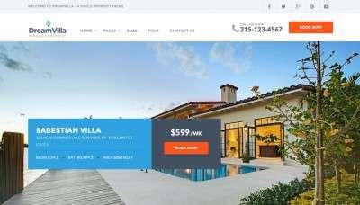 Лучший шаблон сайта недвижимость 2016