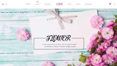 Удивительный шаблон магазина цветов 2016