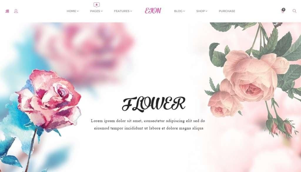 удивительный шаблон магазина цветов 2016 4