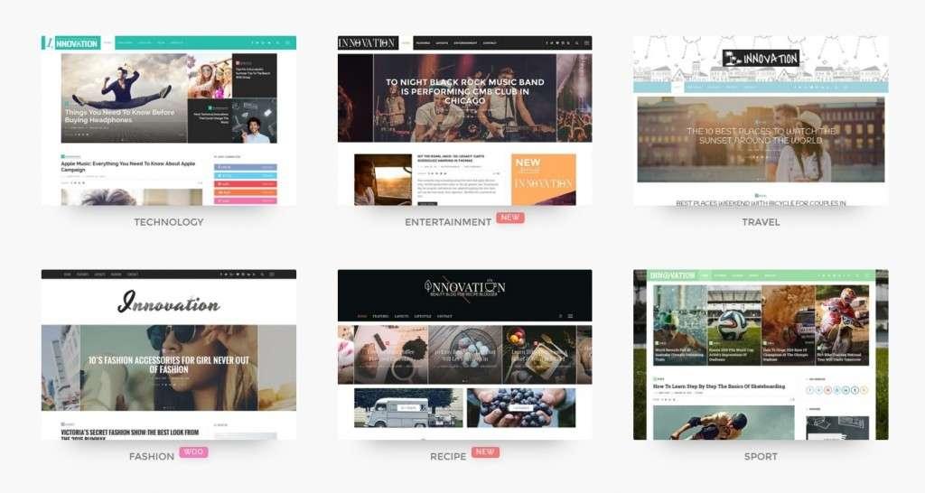 грандиозные популярные шаблоны WordPress 2016