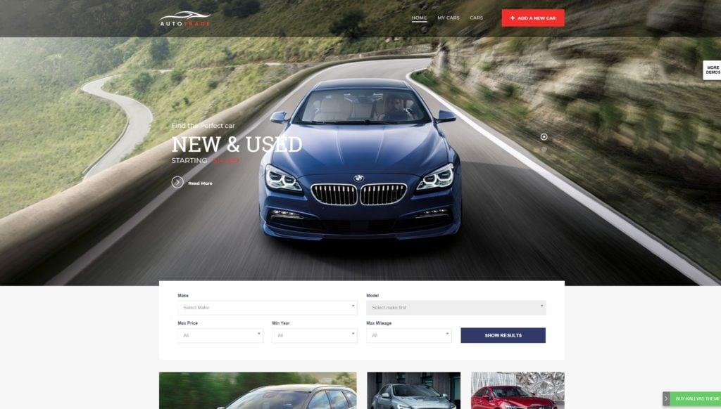 самые лучшие авто шаблоны WordPress для продажи авто, автомеханика и автомастерской 13