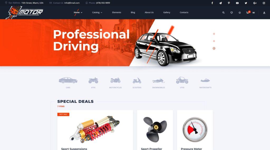 самые лучшие авто шаблоны WordPress для продажи авто, автомеханика и автомастерской 16