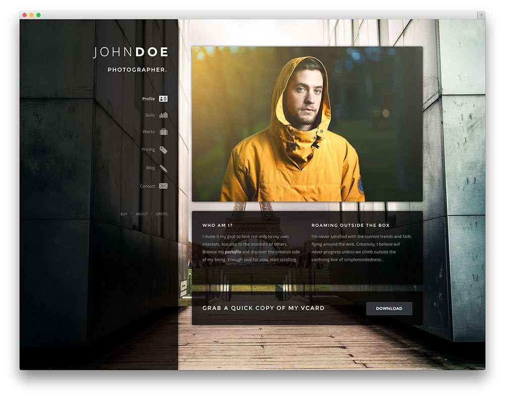 Лучшие шаблоны vCard WordPress 2016
