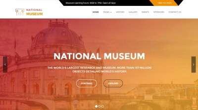 Премиум WordPress шаблоны сайта для музея и галереи 2016