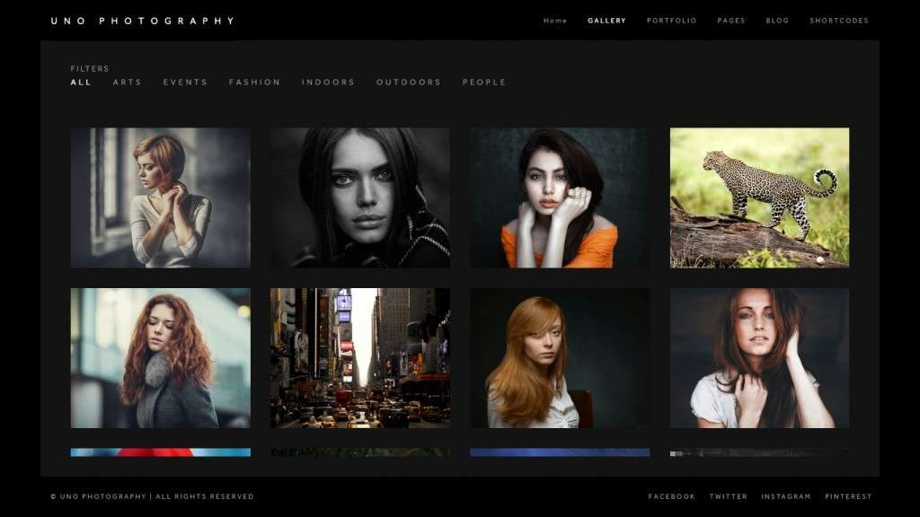 простые премиум WordPress шаблоны сайта для музея и галереи 2016