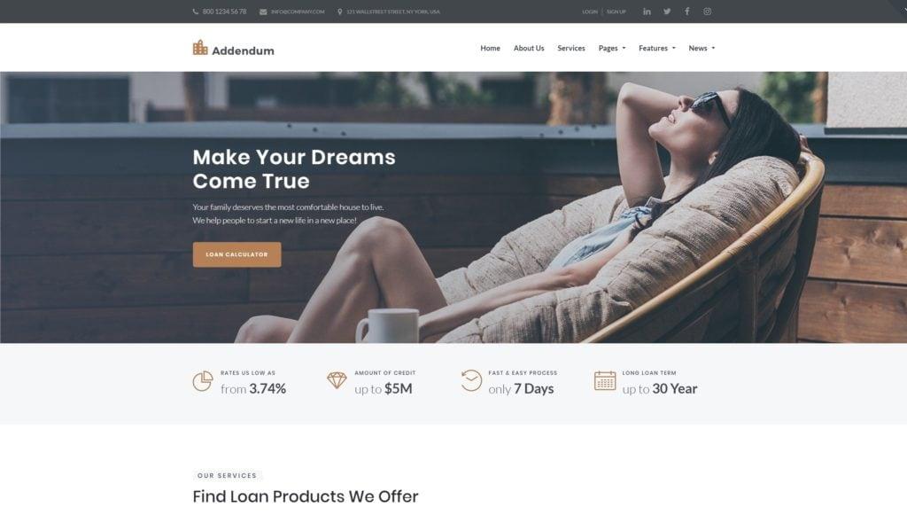 WordPress шаблоны сайта каталога и директории с цепляющим дизайном 01
