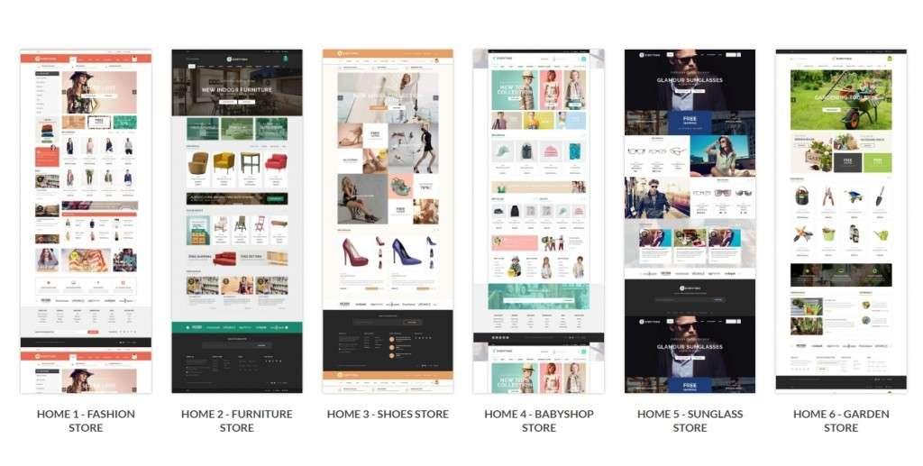 адаптированные Shopify шаблоны с премиум дизайном и функциями 2017