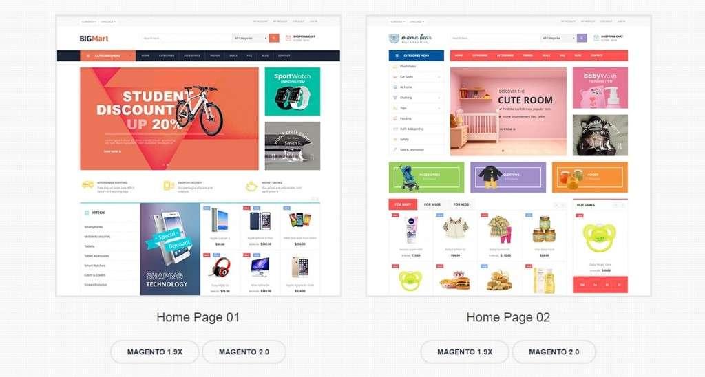 многофункциональные темы Magento с премиум дизайном и функциями 2017