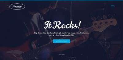 Шаблоны музыкального сайта на WordPress