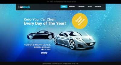 WordPress шаблоны автомойки для привлиния клиентов