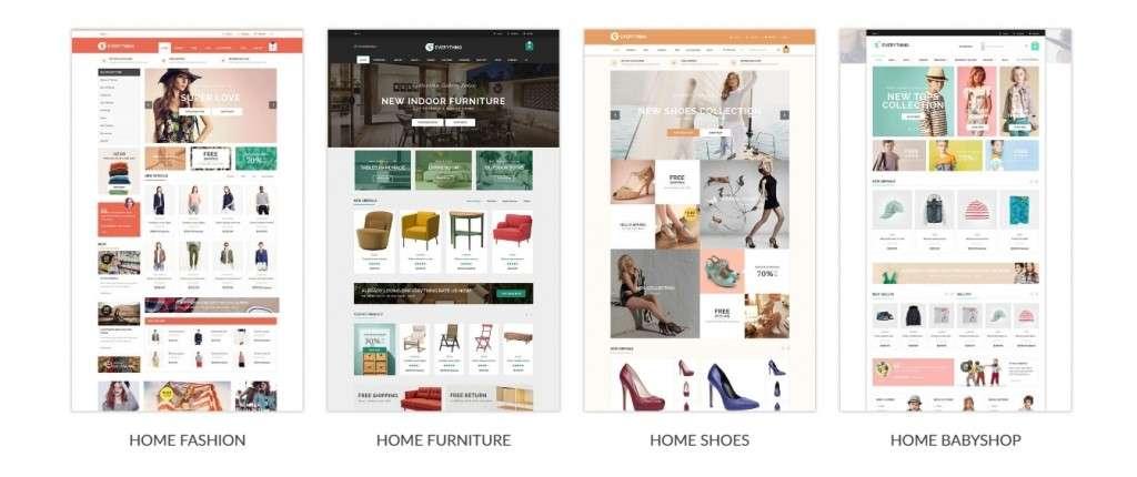 мощные темы Prestashop с премиум дизайном и функциями 2017