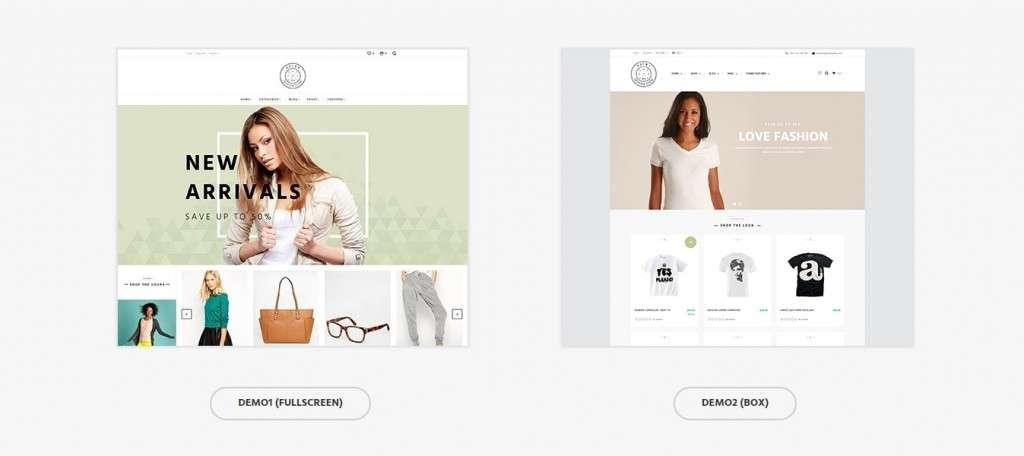 потрясающие Shopify шаблоны с премиум дизайном и функциями 2017