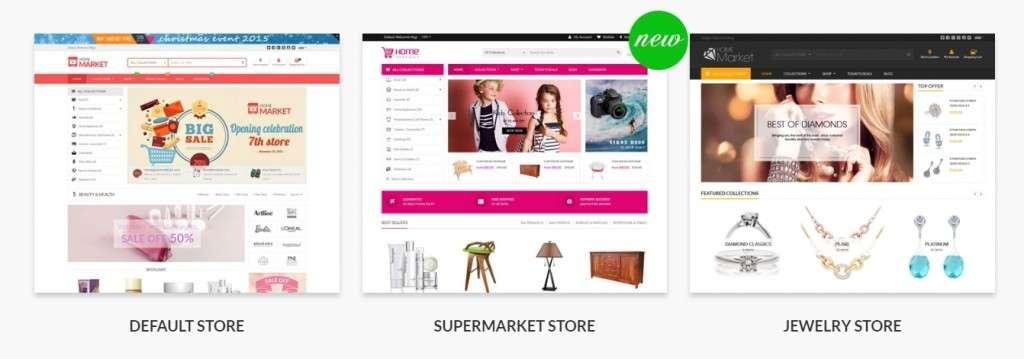 специализированные Shopify шаблоны с премиум дизайном и функциями 2017