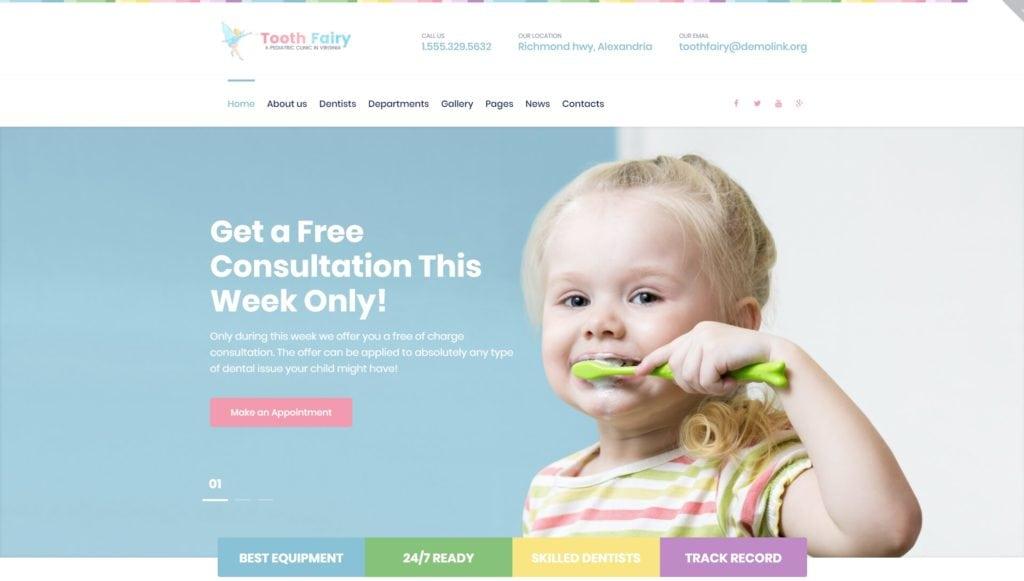 Готовый сайт для врача стоматолога на WordPress с записью 02
