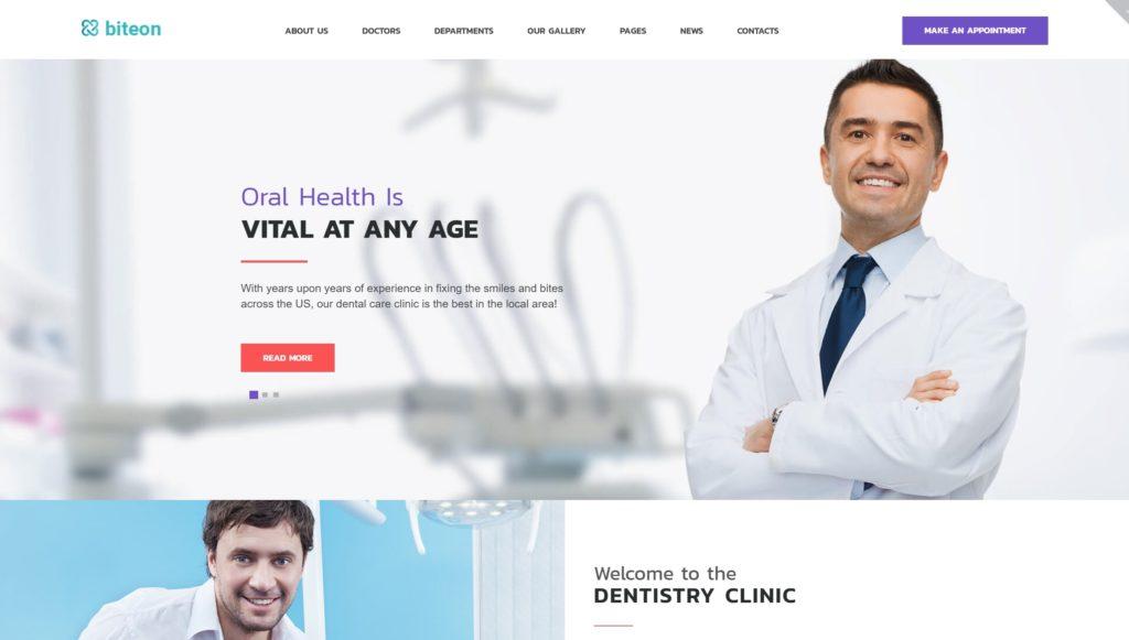 Готовый сайт для врача стоматолога на WordPress с записью 03