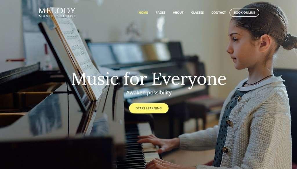 классные WordPress Шаблоны музыкальной школы с премиум дизайном 2017